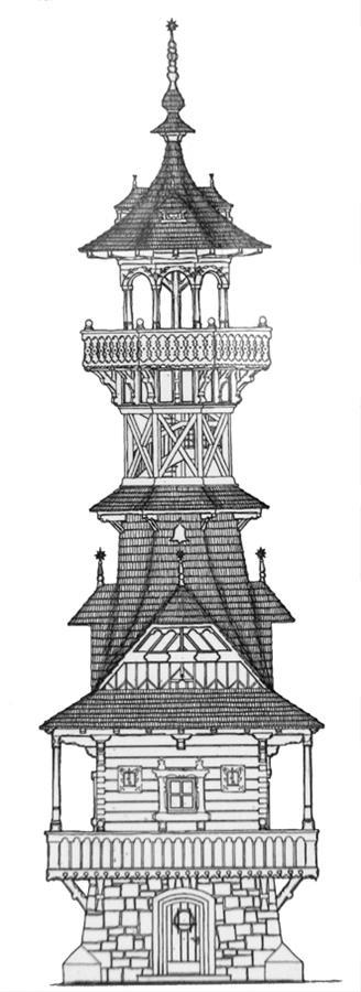 Nákres rozhledny od Dušana Jurkoviče