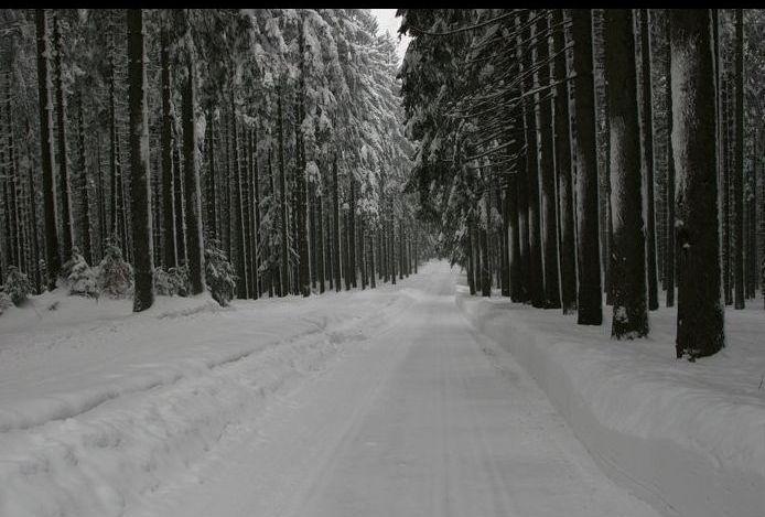 Pravá zima v okolí Bílého Kříže
