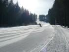 Ski areál Bílá - Sever červená, jarní manšestr  (klikni pro zvětšení)