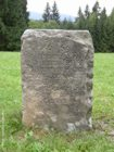 STARÉ HAMRY - Hraniční kámen u OÚ  (klikni pro zvětšení)