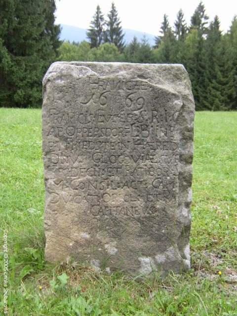 STARÉ HAMRY - Hraniční kámen u OÚ
