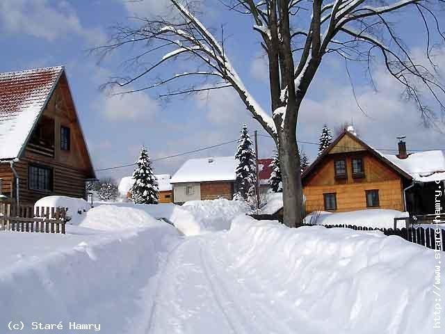 STARÉ HAMRY - Zima, místní část Lojkaščanka