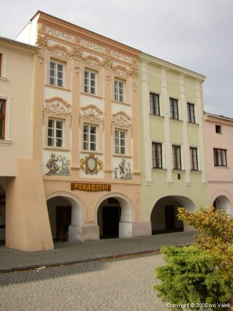 Ukázka opravené fasády