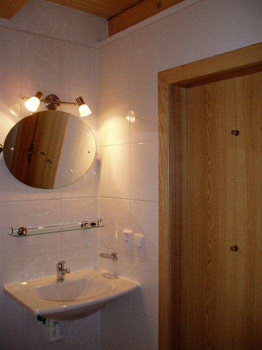 Nové chaty - koupelna