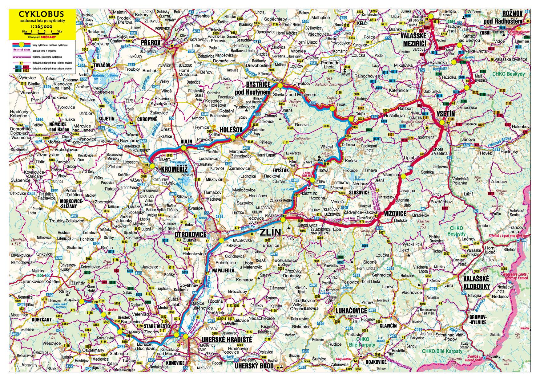 Mapa Turisticka Mapa Hostynske Vrchy