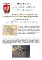 PŘEDNÁŠKA U PŘÍLEŽITOSTI 750 LET ZALOŽENÍ MĚSTA BRUŠPERK